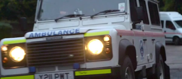 The Team's Land Rover responding to a call out
